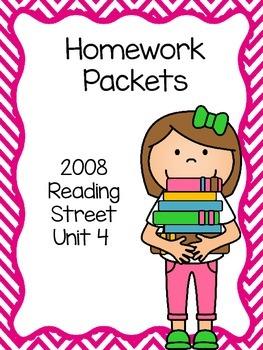 Homework Packet, Unit 4, Reading Street, 2008