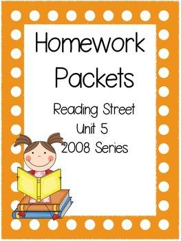 Homework Packet, Unit 5, Reading Street, 2008