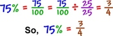 Homework Packet (change percents to fractions) and the inverse