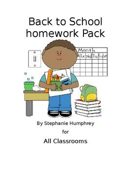 Homework Packet for All Grades