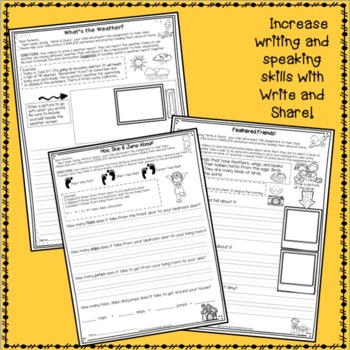 Homework Packet  for an ENTIRE year of Second Grade: Write & Share