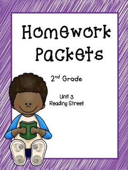 Homework Packets, 2nd Grade, Unit 3, Reading Street