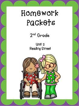 Homework Packets, Unit 2,  Reading Street, 2nd Grade
