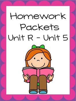 Homework Packets, Unit R - Unit 5, Reading Street, 2013