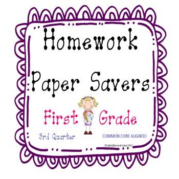Homework Papersavers 3rd Quarter