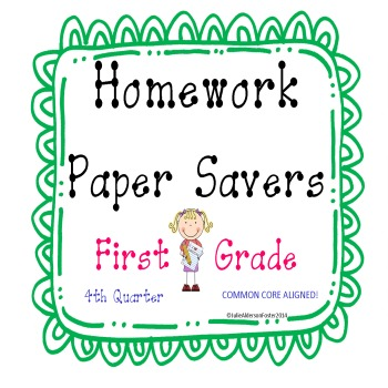 Homework Papersavers 4th Quarter