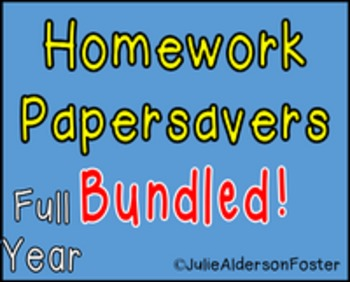 Homework Papersavers Bundled