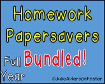 Homework Papersavers Bundled