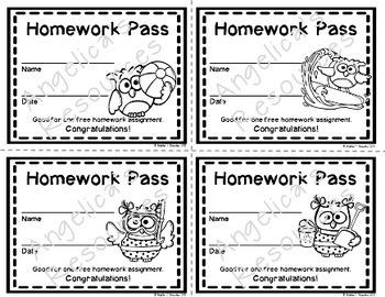 Owl Homework Pass - Incentive Reward Coupon