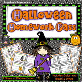 Halloween Homework Pass - Incentive Reward Coupon