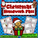 Christmas Homework Pass - Incentive Reward Coupon