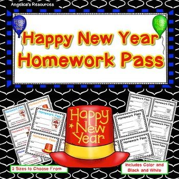 Happy New Year Homework Pass - Incentive Reward Coupon
