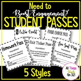 Homework Pass, Exit Ticket Pass, Extra Credit + More!