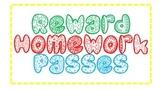 Homework Pass {Freebie}