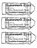 Homework Pass - Generic for Any Use