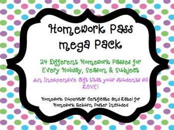 Homework Pass Megapack with Homework Superstar Certificates