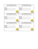 Homework Pass- Postive Reinforcement Tool