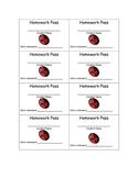 Homework Pass Printable