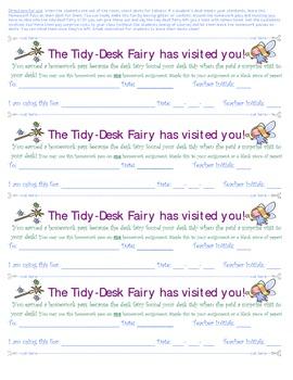 Homework Pass - Tidy-Desk Fairy