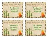 Homework Pass- camping theme