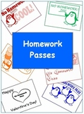 Homework Pass for Student Rewards