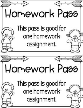 Homework Pass (freebie!)