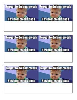 Homework Pass (in Spanish)