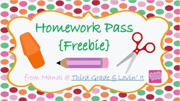 Homework Pass {my 1st FREEBIE}
