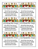 Homework Passes Bundle - Holidays Year Round
