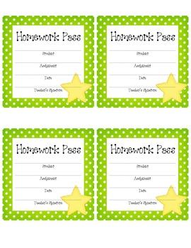 Homework Passes-Polkadots