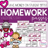 Homework Passes - Valentine's Day Theme