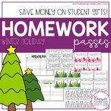 Homework Passes - Winter Holiday Theme