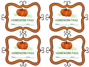 Homework Passes for Fall