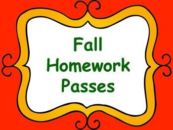 Homework Passes for Fall