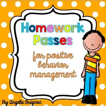 Homework Passes for Positive Behavior Management