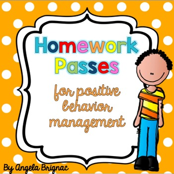 Homework Passes for Positive Behavior Management