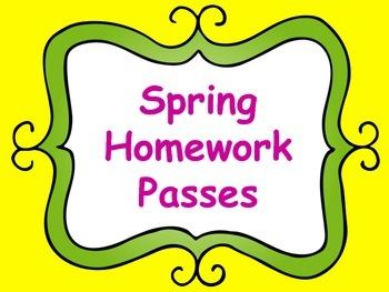 Homework Passes for Spring