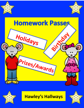Homework Passes for Various events