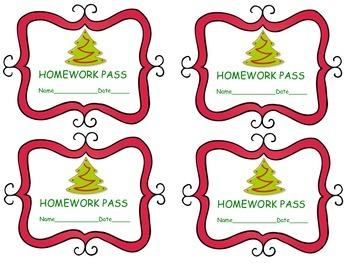 Homework Passes for Winter