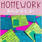 Homework Passes for the Entire School Year