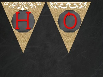 Homework Pennants- Burlap, Chalkboard, and Red
