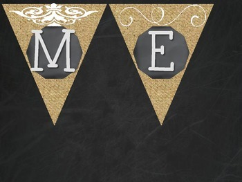 Homework Pennants- Burlap and Chalkboard