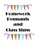 Homework Pennants (Movie Theme)