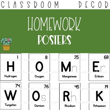 Homework Periodic Table of Elements Posters