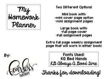 Homework Planner!