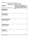 Homework Planner Chart