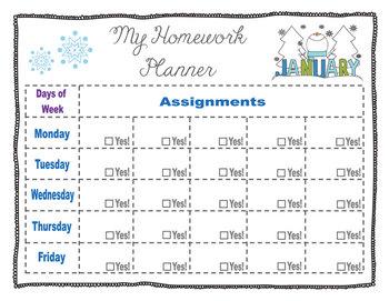 Homework Planner. Homework Organizer