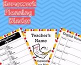 Homework Planning Binder *EDITABLE*