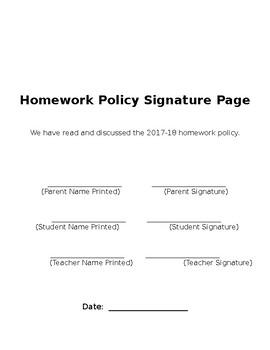 "Homework ""Pledge"""