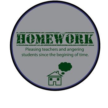 Homework Poster or Sign